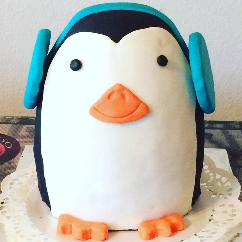 Tierisch süße Pinguin-Torte